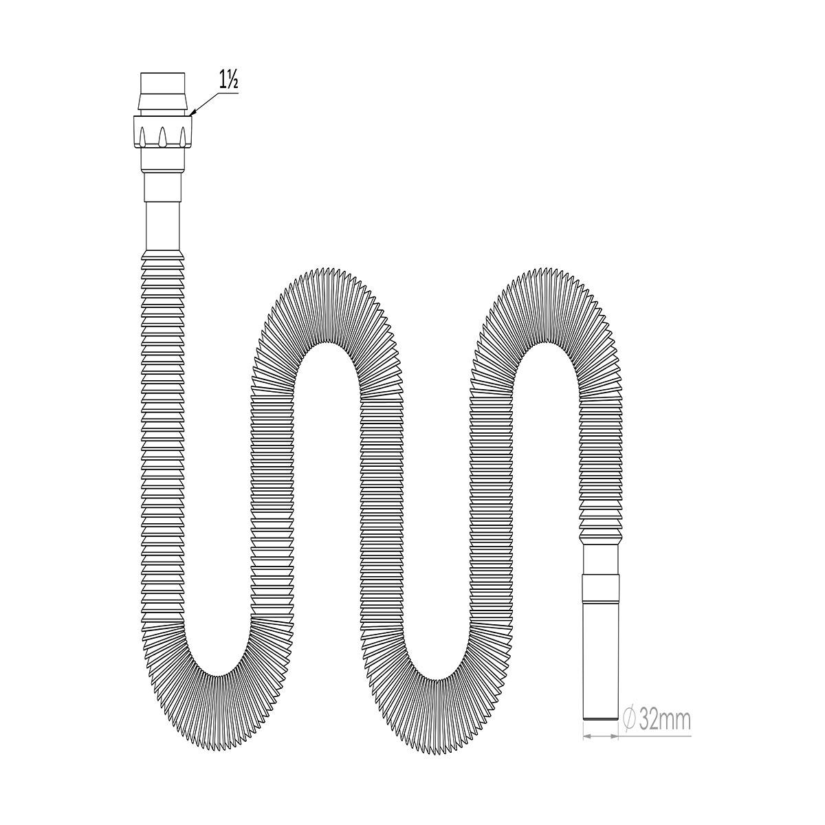 1 ½ – Ø32 Uzun Körük –  Konik Conta