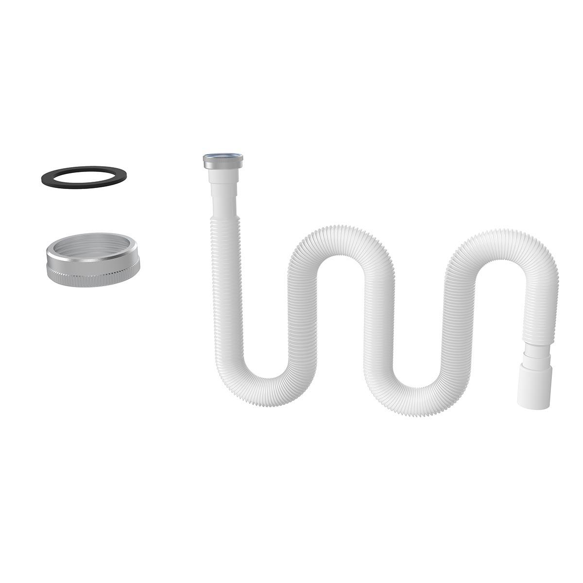 1 ½ – Ø40 Metal Somunlu Uzun Körük – Düz Conta