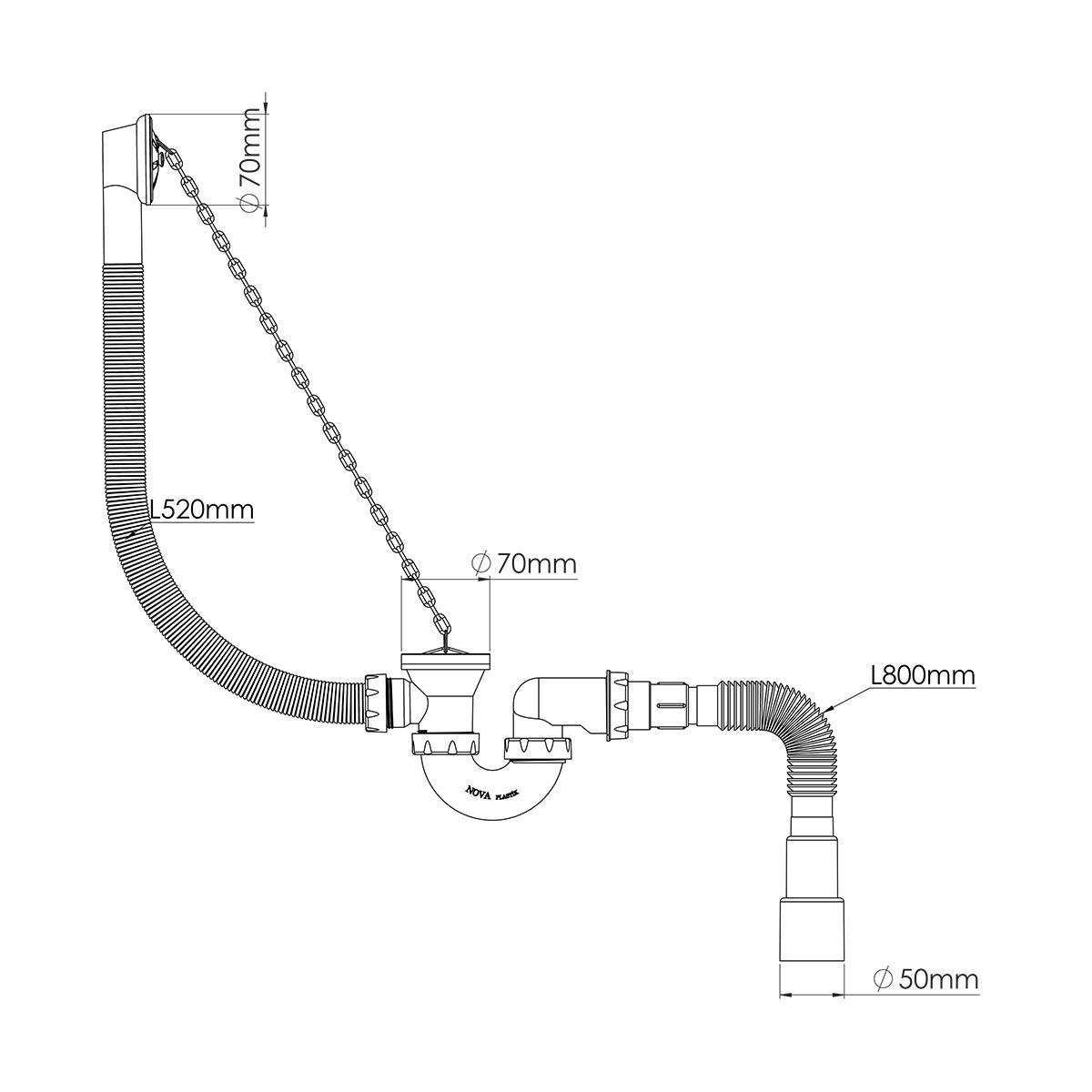 Körük Tahliyeli Küvet Tropleni -S-Model