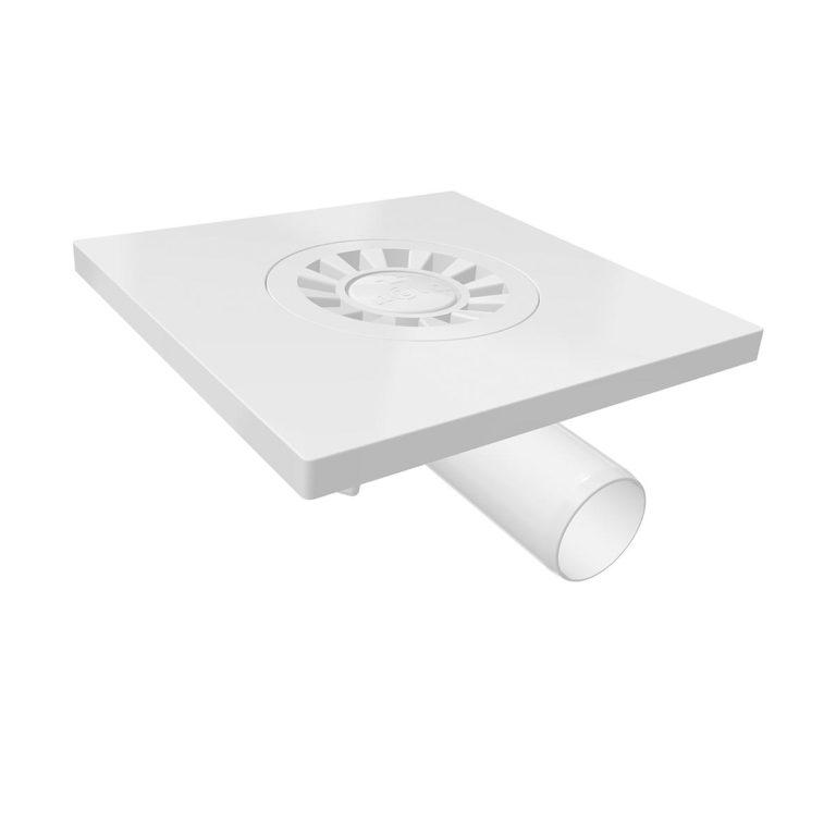 15x15cm Horizontal  Ø32 outlet plastic floor drain