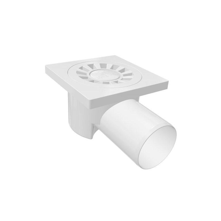 10x10cm Horizontal Ø50 outlet plastic floor drain