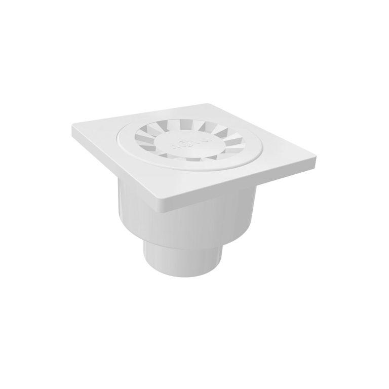 10x10cm Vertical Ø50 outlet plastic floor drain