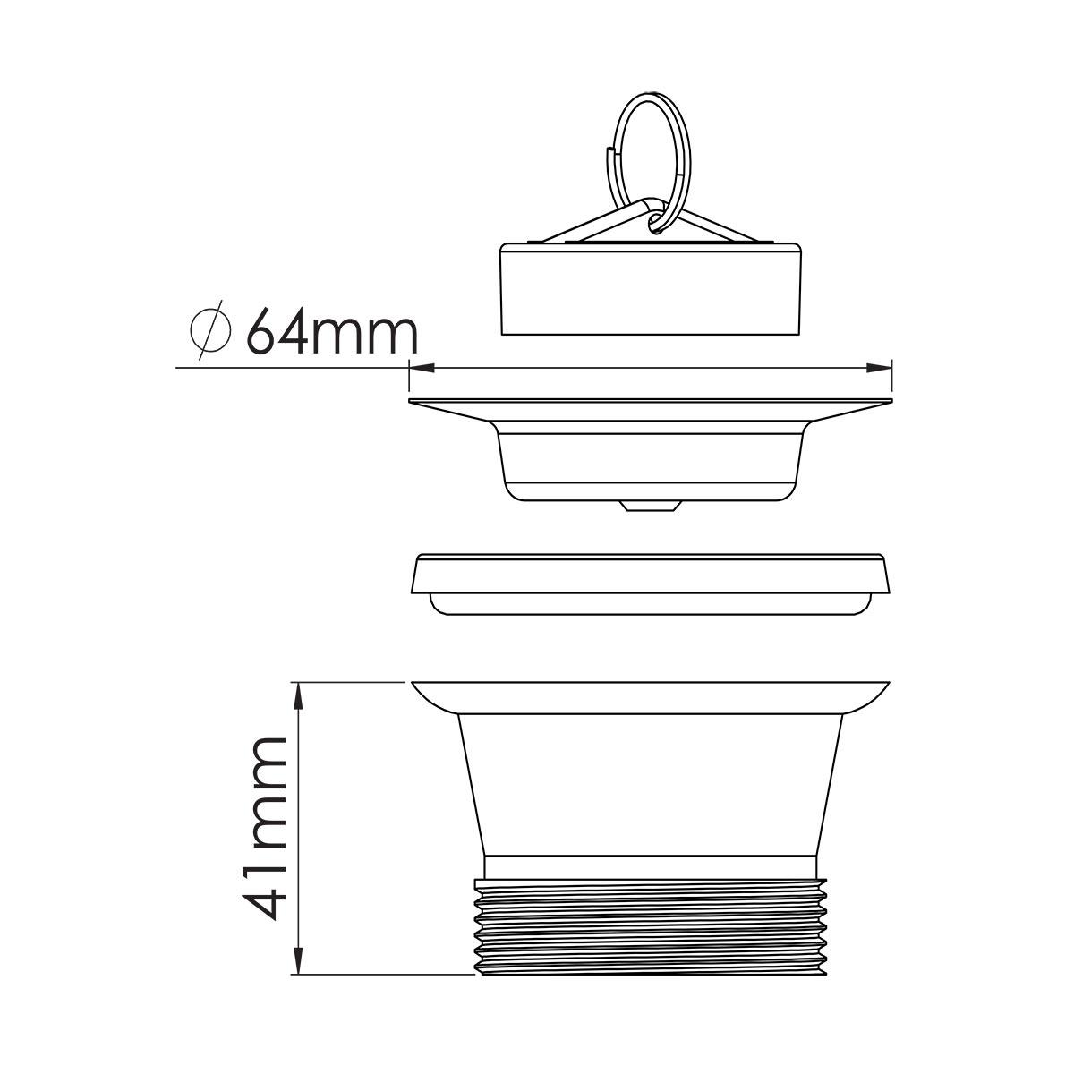1 ½ – 64mm Süzgeç Tapalı Sifon Su Girişi