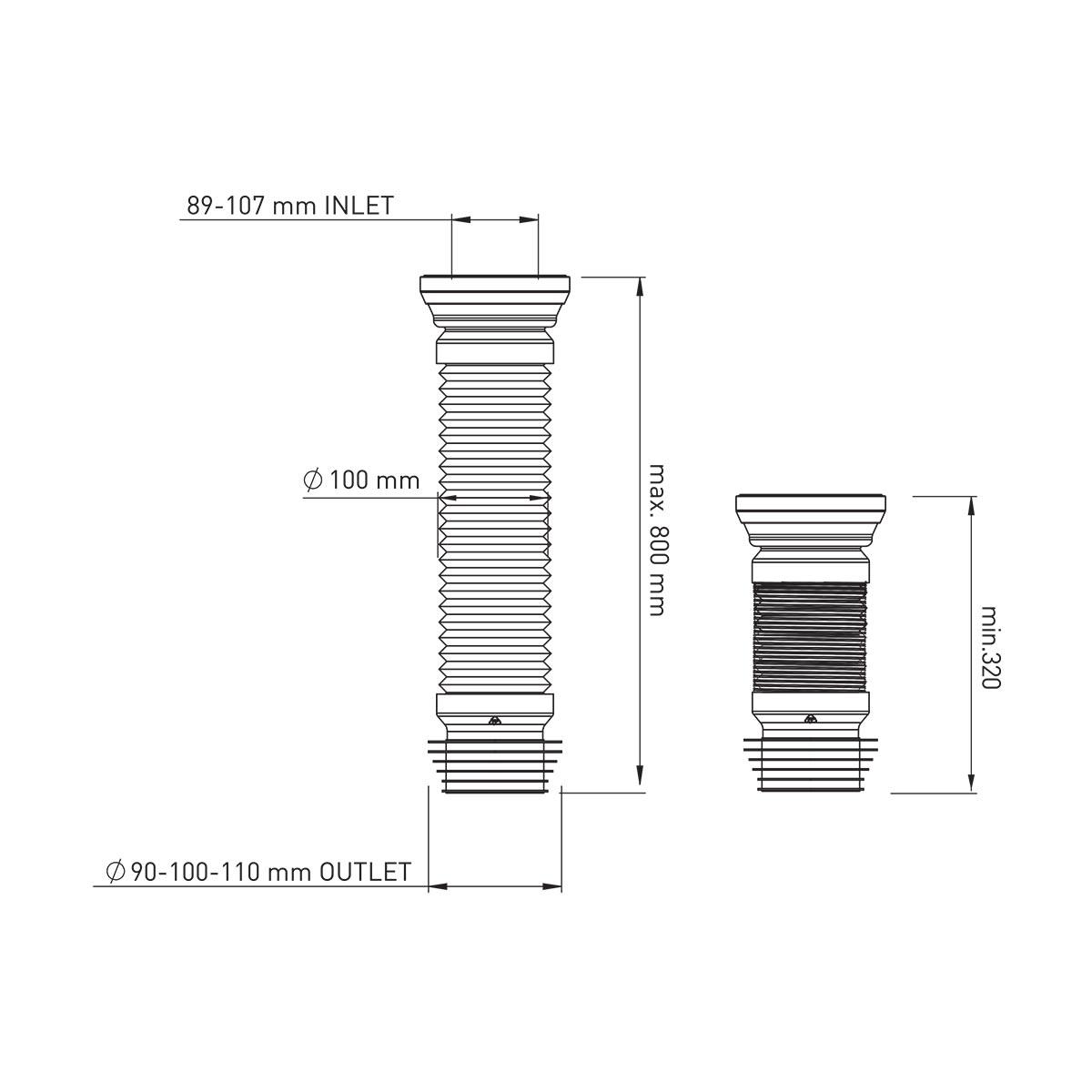 80 cm Körüklü Çelik Telli Kada