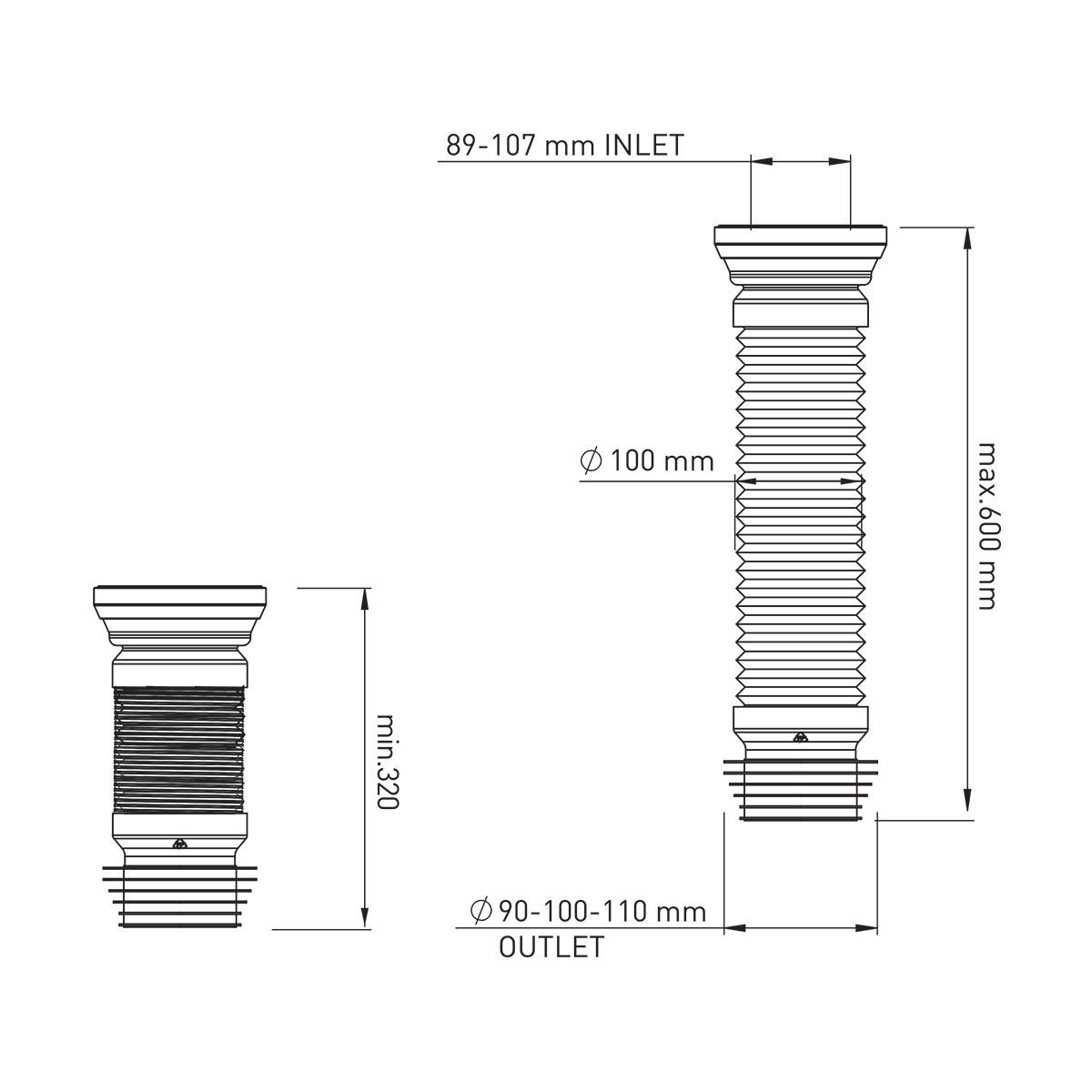 60 cm Körüklü Çelik Telli Kada