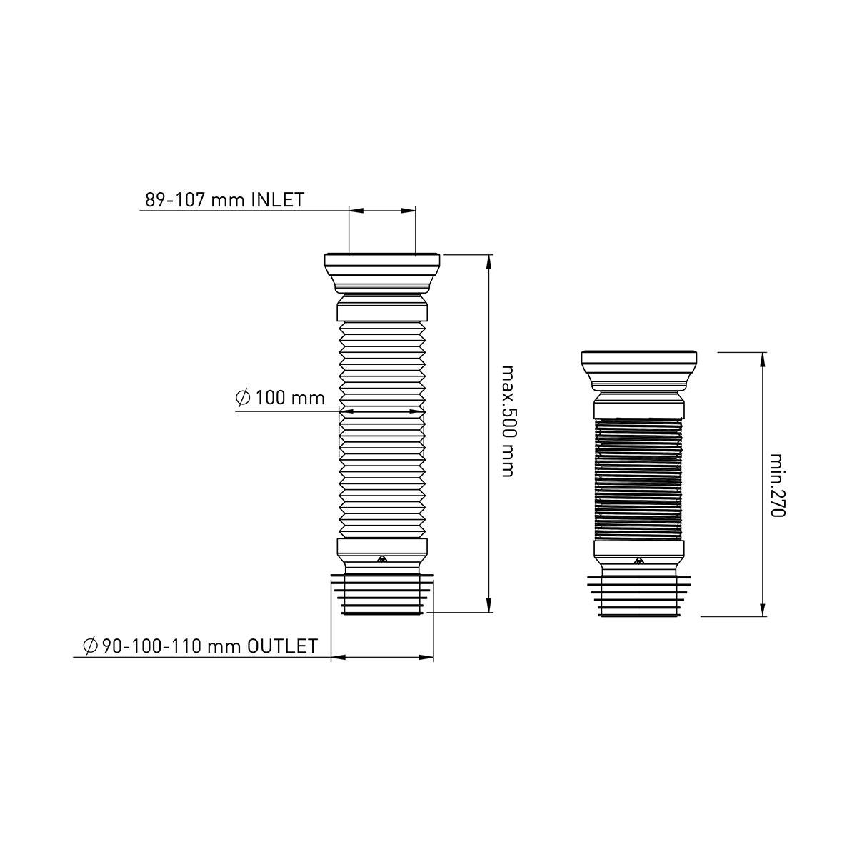 50 cm Körüklü Çelik Telli Kada