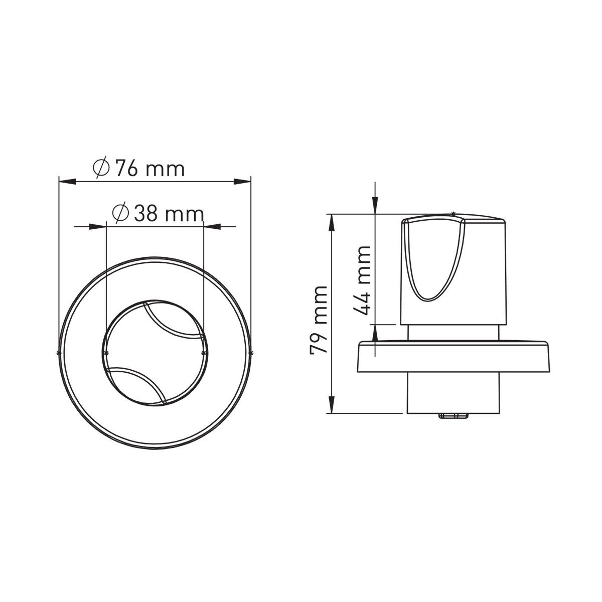 Yuvarlak Başlıklı Ankastre Ara Kesme Valf  – 20 mm