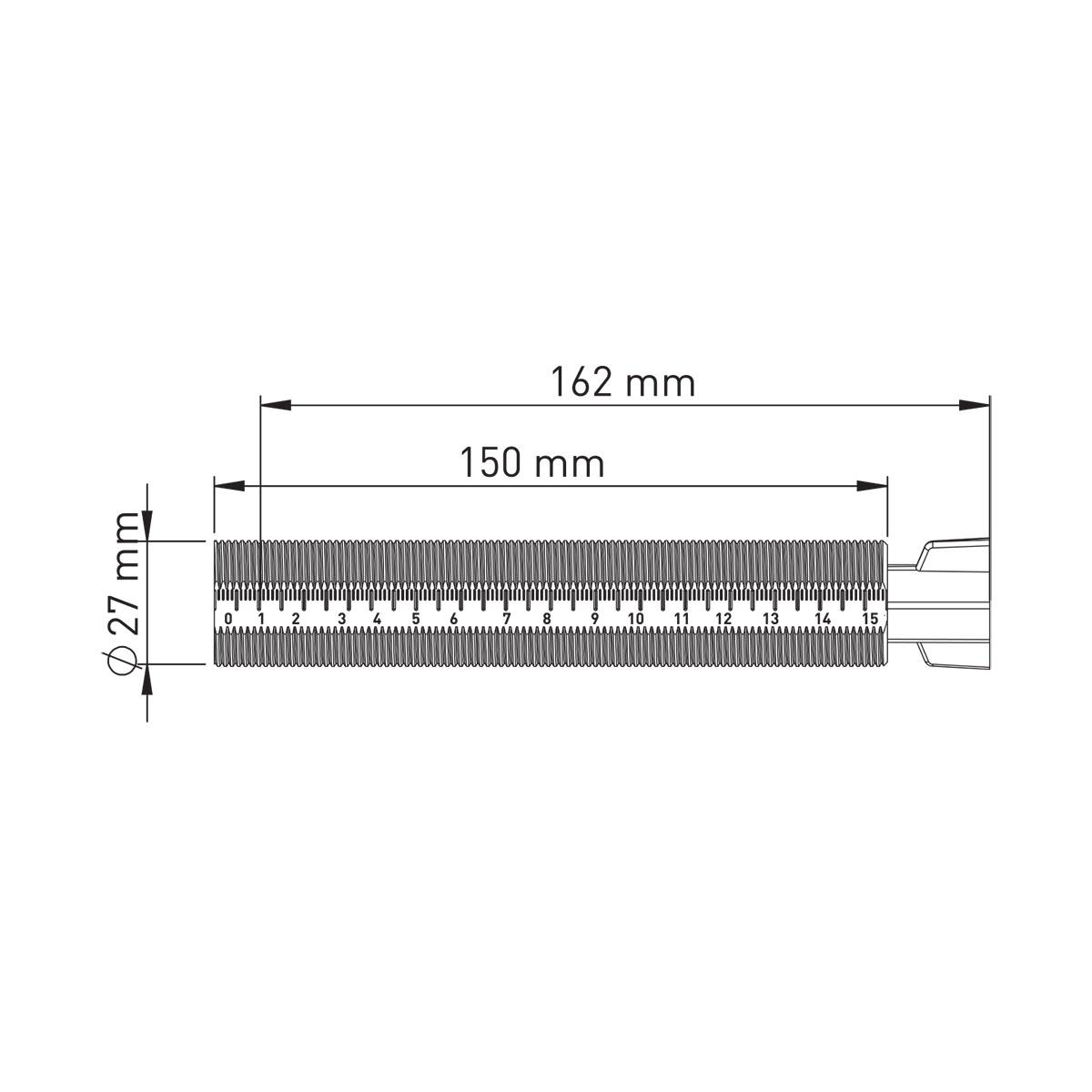 Yuvarlak Başlıklı Ankastre Ara Kesme Valf  – 25 mm