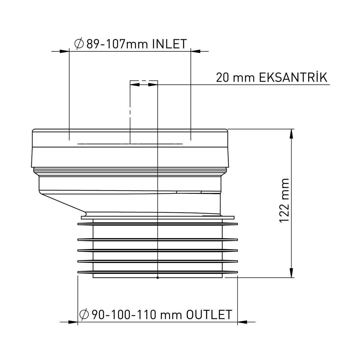 PP Eksantrik Kada 20 mm