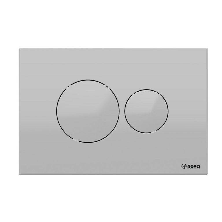 Round Matt Grey Button