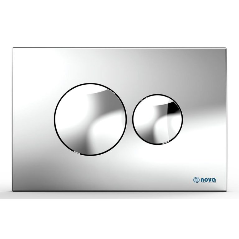 Round Chromated Button